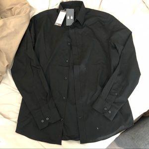 H&M black dress shirt